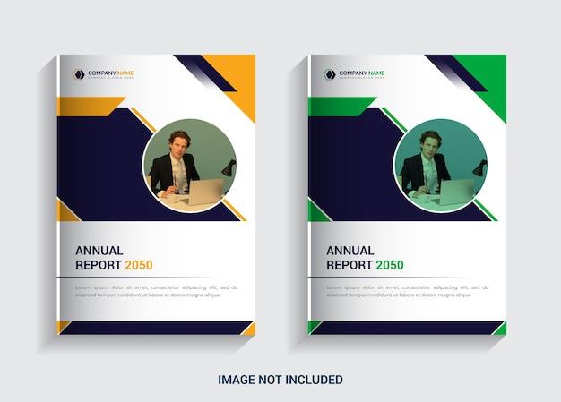 Business cover annual report 2025 corporate template design Premium Vector