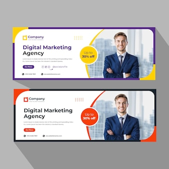Business cover banner template
