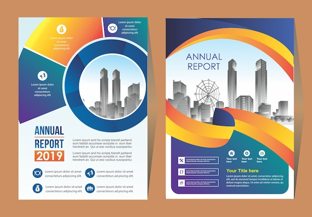 Business cover brochure background design template