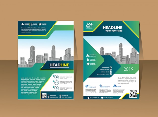 Business cover brochure layout