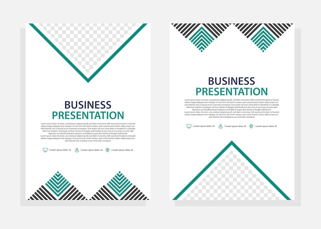 비즈니스 표지 디자인 템플릿입니다. 전단지 디자인 템플릿입니다. 비즈니스 마케팅, 판촉 및 프레젠테이션에 적합합니다. 편집 가능한 벡터입니다.