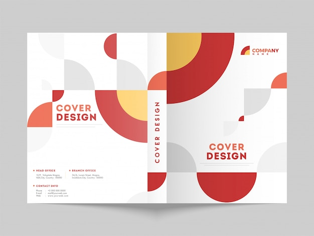 Business cover page layout for corporate sector.