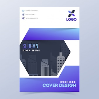 Business cover page or template layout for corporate sector.