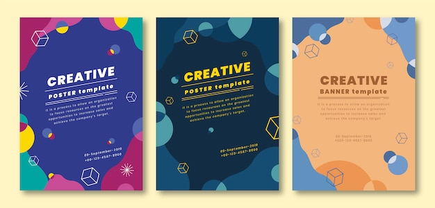 Business cover template set