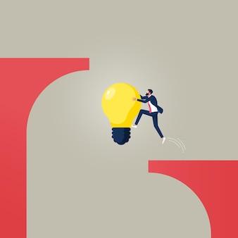 비즈니스 크리에이 티브 솔루션 벡터 개념 창의력 사고 성공 창조 과정의 상징