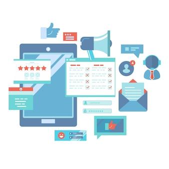 Иллюстрация службы поддержки бизнес-клиентов