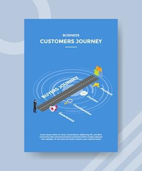 Business customer journey men standing on road
