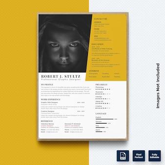 ビジネスcv履歴書印刷テンプレートベクトルプレミアム