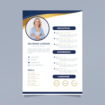 Business cv template with photo
