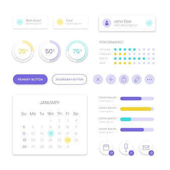 Business dashboard element collection