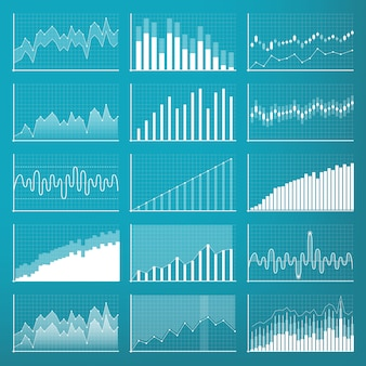 Business data financial charts. finance diagram.