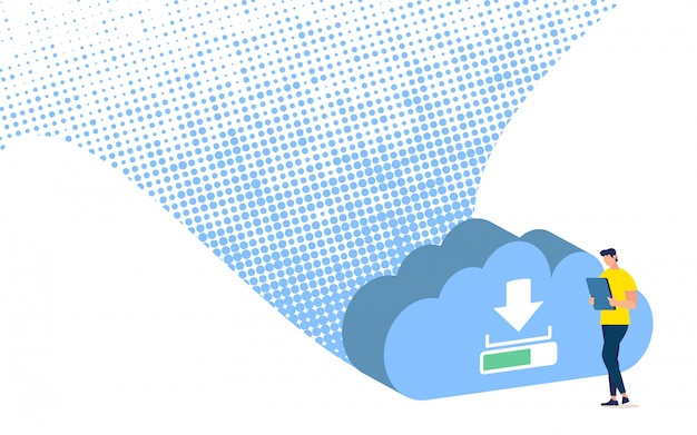 Business data saving, synchronization and backup online service mobile application