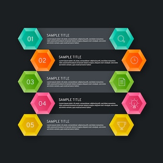 Business data visualisation of timeline infographic