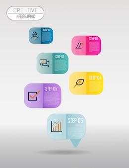 Визуализация бизнес-данных красочный график инфографики шаблон векторная иллюстрация