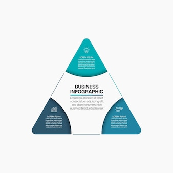 Business data visualization infographic template