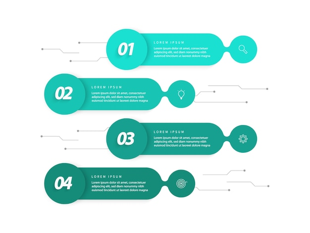 ビジネスデータの視覚化。プロセスグラフ要素。ステップのオプション、部品、またはプロセスの図を使用した抽象的なグラフ。ビジネステンプレート。インフォグラフィックの創造的な概念。