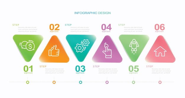 Business data visualization timeline infographic icons designed for abstract background template st