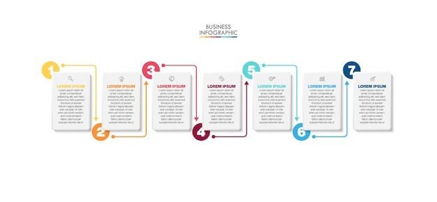Business data visualization timeline infographic icons designed for abstract background template