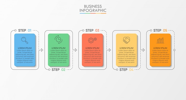 Business data visualization. timeline infographic template