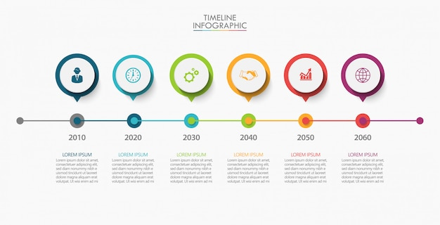 Business data visualization. timeline infographic