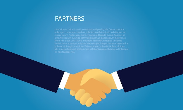Business deal agreement partnership concept
