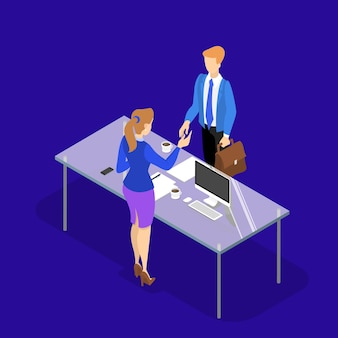 ビジネス上の取引の概念。合意の印としての握手