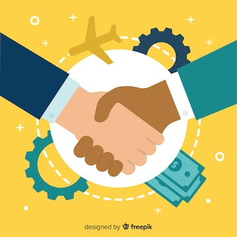 Business deal flat background