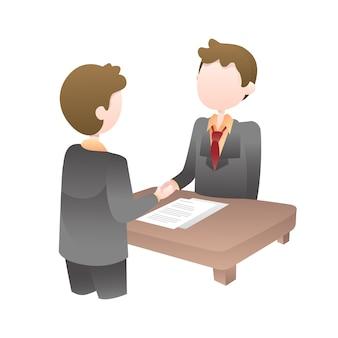 Business deals illustration