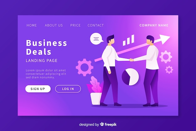Business deals landing page template
