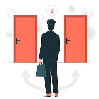 Business decisionsconcept illustration