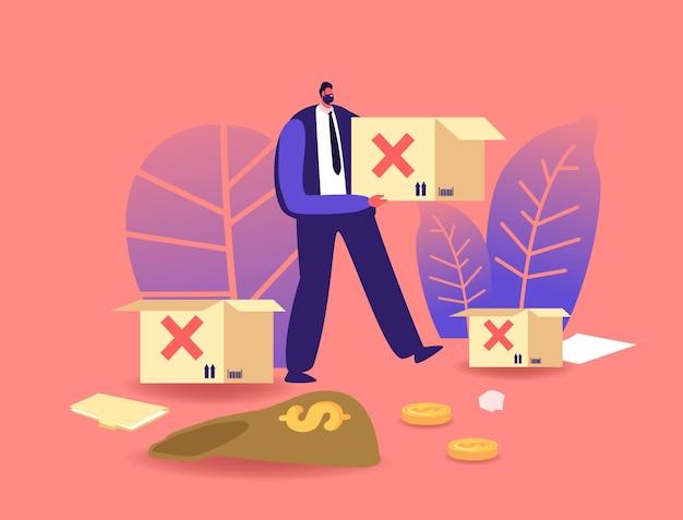 Упадок бизнеса, глобальный экономический кризис из-за пандемии. мировой финансовый крах, вспышка