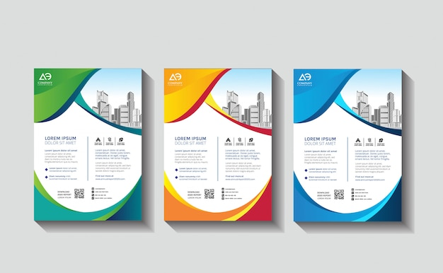 Business design template flyer annual report