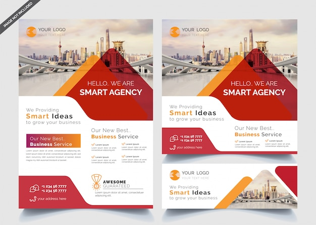 Business design templates of banners and flyers