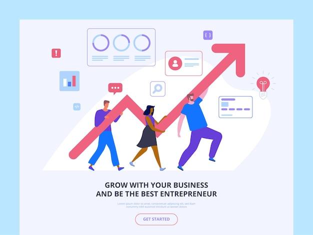 Шаблон курсов по развитию бизнеса. школа предпринимательства содействие стартапам рост прибыли
