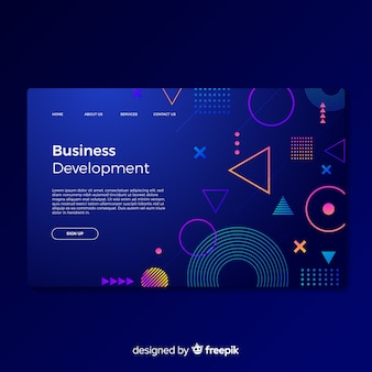 Business development landing page