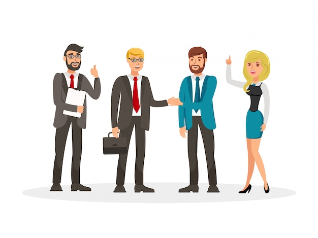 Business development meeting vector illustration