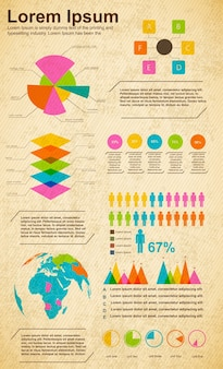 Шаблон бизнес-диаграмм для презентации и процентного соотношения