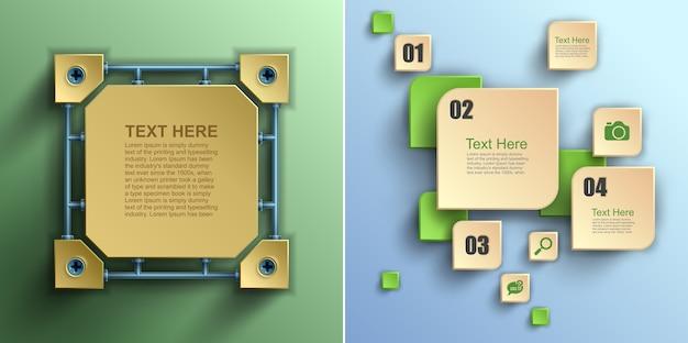 Business  digital infographics, step up number options