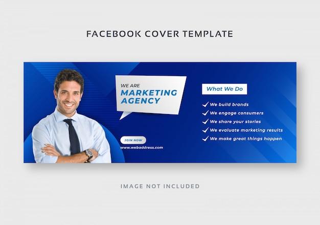 Шаблон обложки бизнес цифрового маркетинга facebook