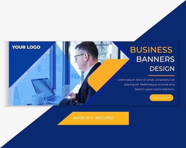 Business & digital marketing sale web banner template. horizontal advertising web banner template. marketing web header banner for social media and website advertisement