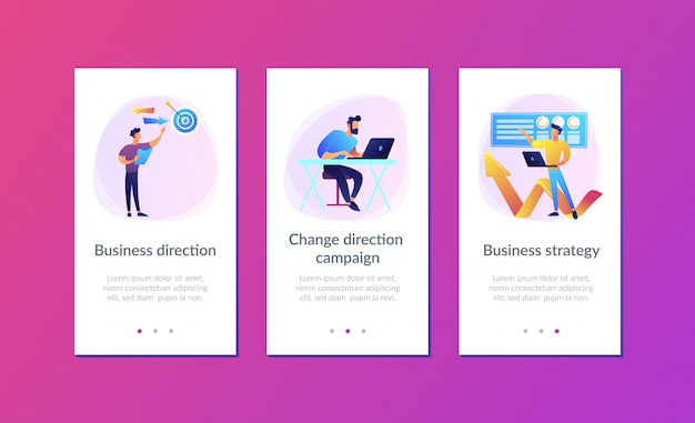 Business direction app interface template