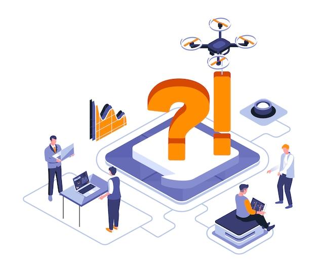 Business discuss isometric   illustration