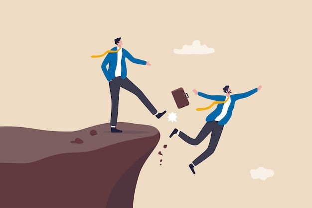 Business dishonesty, betrayal or jealousy colleague