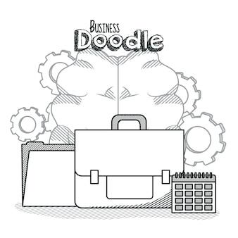 Business doodle concept