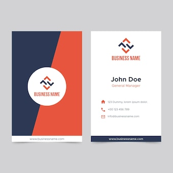 Business double-sided business card template