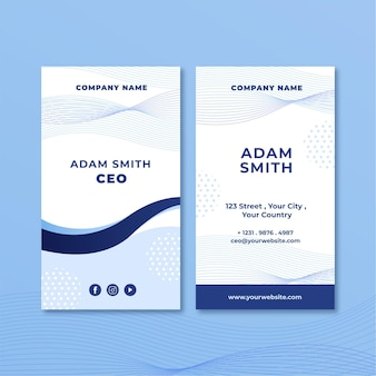 Business double sided business card