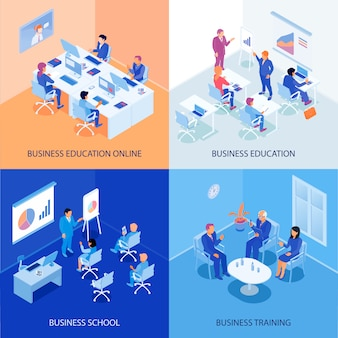 Business education isometric