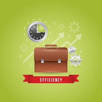 Business efficiency background