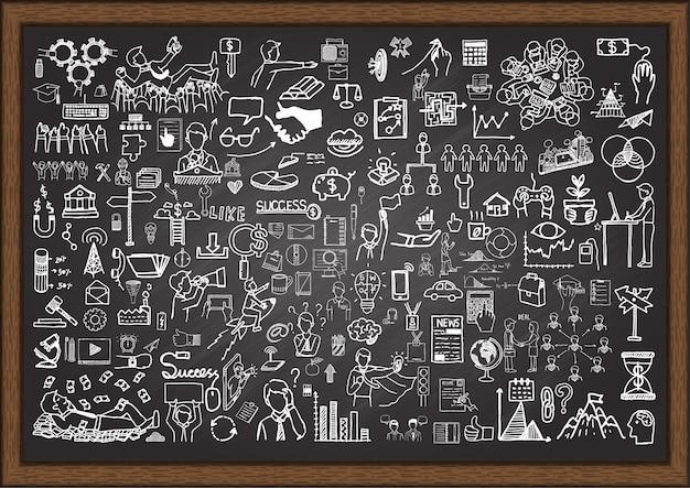 Business element on chalkboard