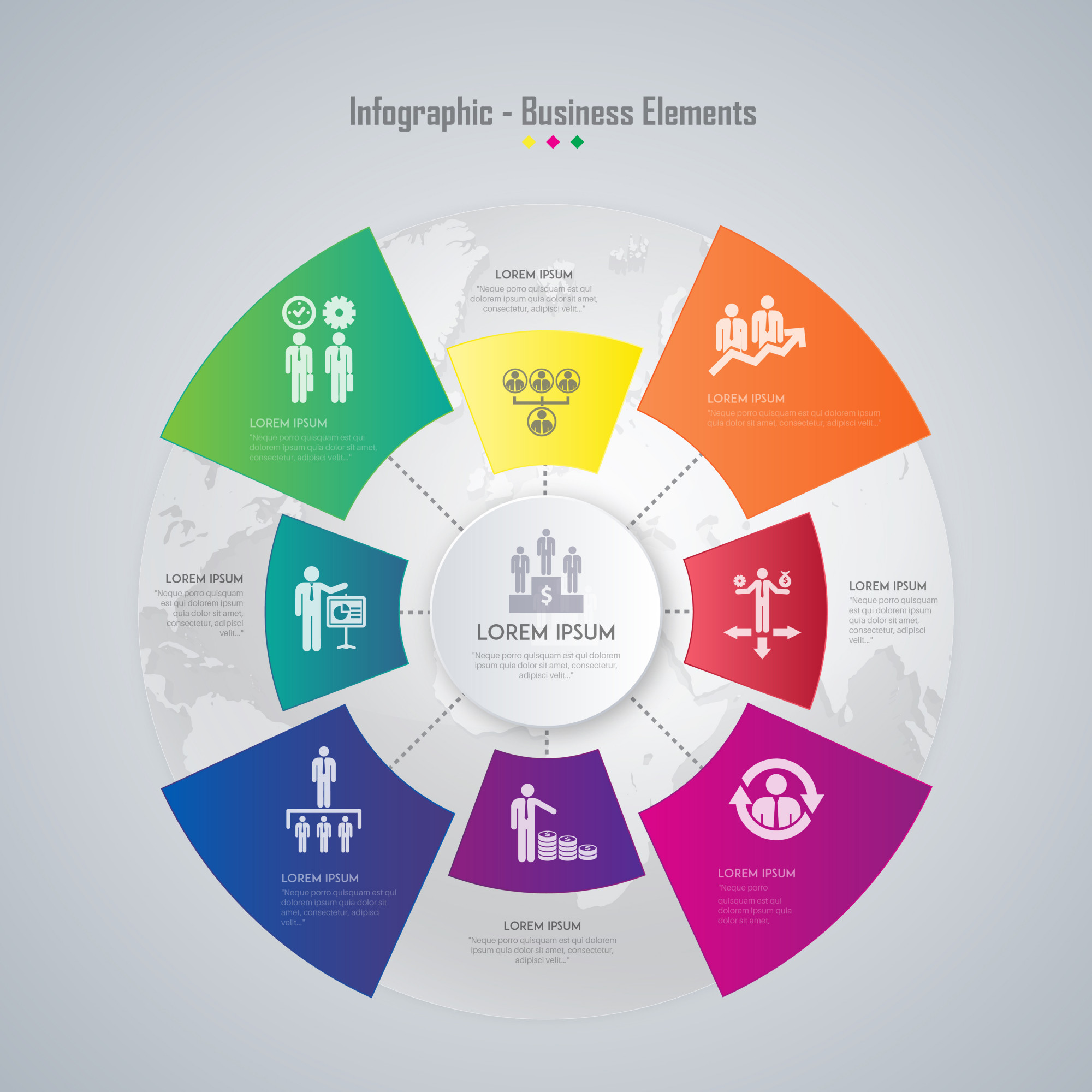 Business elements infographic